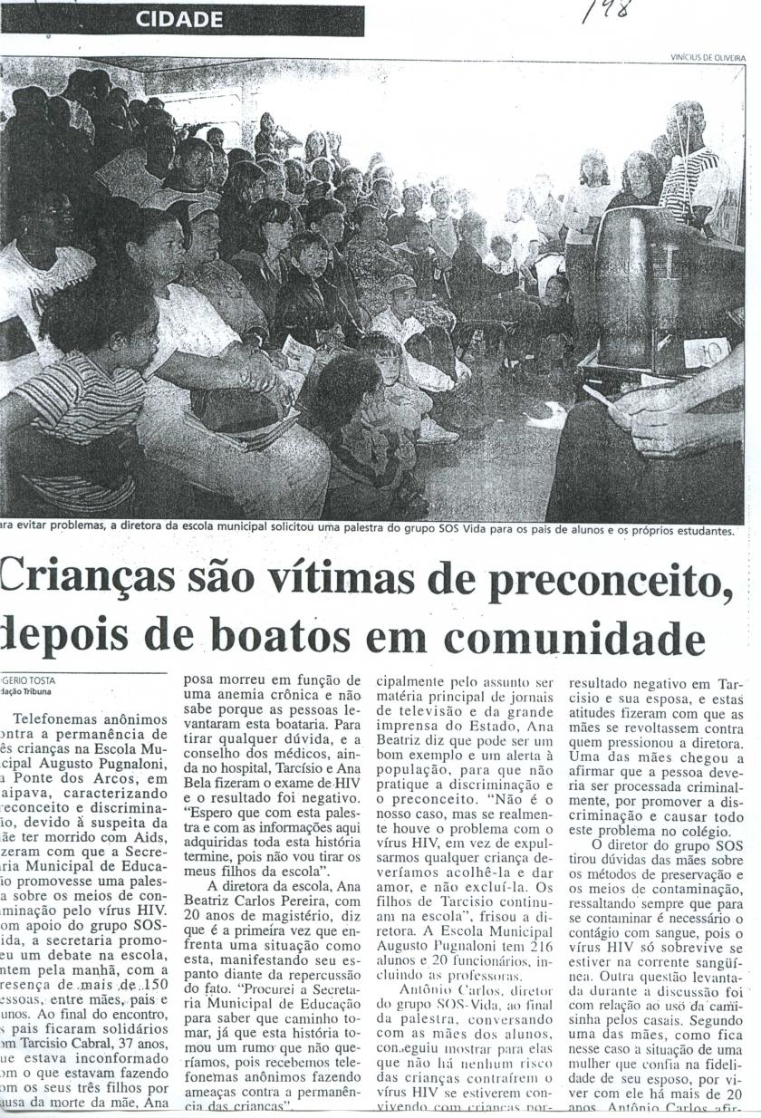 DENUNCIA DISCRIMINAÇÃO ESCOLA EM ITAIPAVA 2002 .1JPG