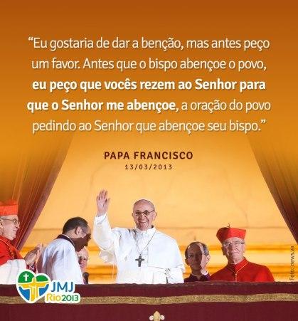 PAPA FRANCISCO  PEÇO ORAÇÕES