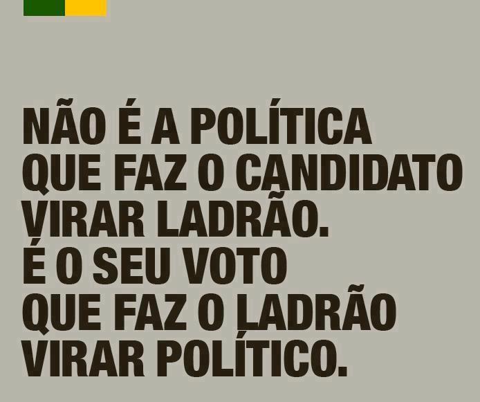 POLITICA NÃO É O CANDIDATO